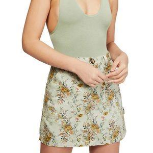 Urban outfitter Floral Twill Carpenter Miniskirt L